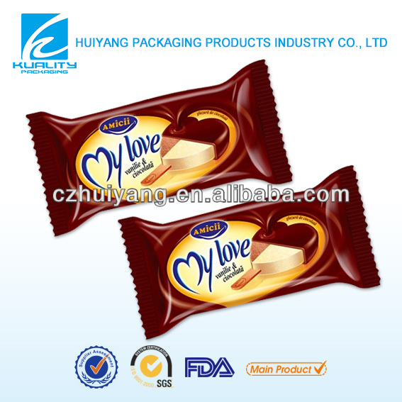 Gravure printed plastic auto packaging pouch for Popsicle