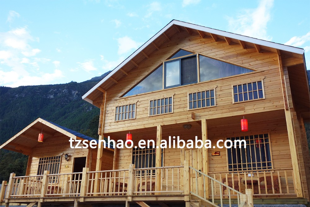 New Modern wooden house/log cabin with low price for sale