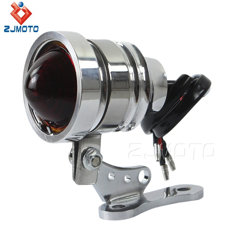 High Quality Aluminum Housing Rear Tail Steel Bracket 12V LED Motorcycle Taillight For Harleys Choppers