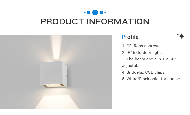 INNOVALIGHT 6W COB Square Wall Shape IP65 Up and Down Wall Light LED