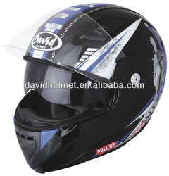 DAVID new helmet with double visor flip up model for motorcyclist