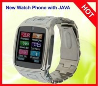 QuadBand Touch Screen Watch Phone with Single Sim Card+Camera- Silver(WP-TW810S)