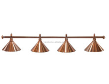 Billiard lamp 4 metal shades of billiard pool table lights