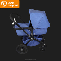 Valuable Land Leopard baby stroller equipped with interchangeable handle and five point high-designed ribbon to support safety
