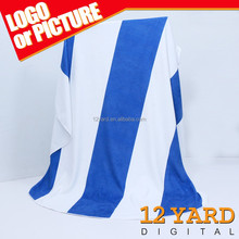 Big discount wholesale 100% polyester custom print logo beach towel