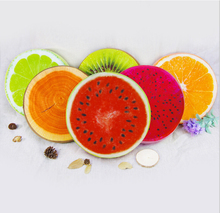 Washable 3D thickening round fruit seat cushion for office