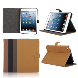 New arrival Flip leather cover Case for iPad Mini 4,for iPad Mini 4 Retro Vintage PU case with stand