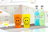 best selling carton smile plastic cup 500ml