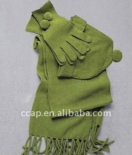 popular fleece warm winter sets scraft gloves ccap-9055