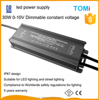 3 years wanrrany CE RoHS high lumen waterproof 24V 10W led driver