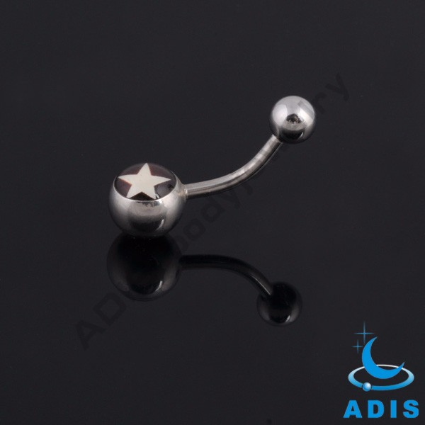 Epoxy surgical steel banana belly piercing jewelry belly ring wholesale