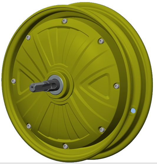 "DM-210 10 "" 48volt electric wheel hub motor"