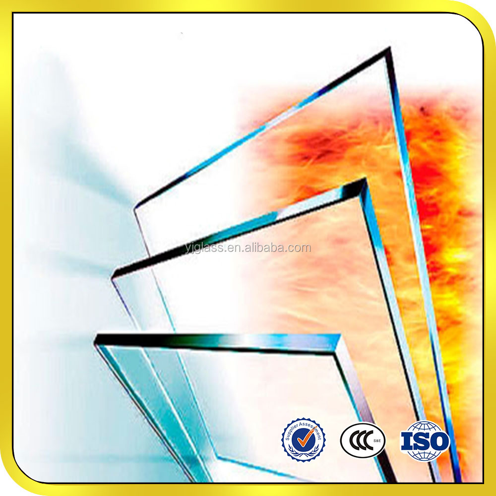 Fireproof glass 5mm 6mm 8mm 10mm 12mm 15mm for fireplace
