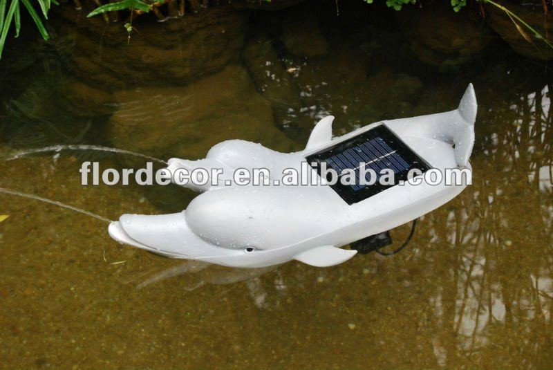 solar garden dolphin fountain solar dolphin spitter solar garden decoration dolphin shape fountain