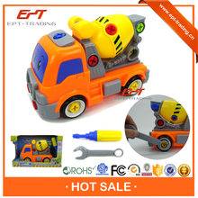 Plastic toy self assemble construction truck toy for sale