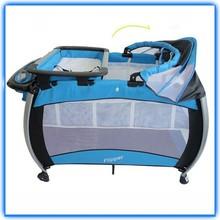 2015 safety cot for baby with child safety door lock , playpens baby playpen with canopy