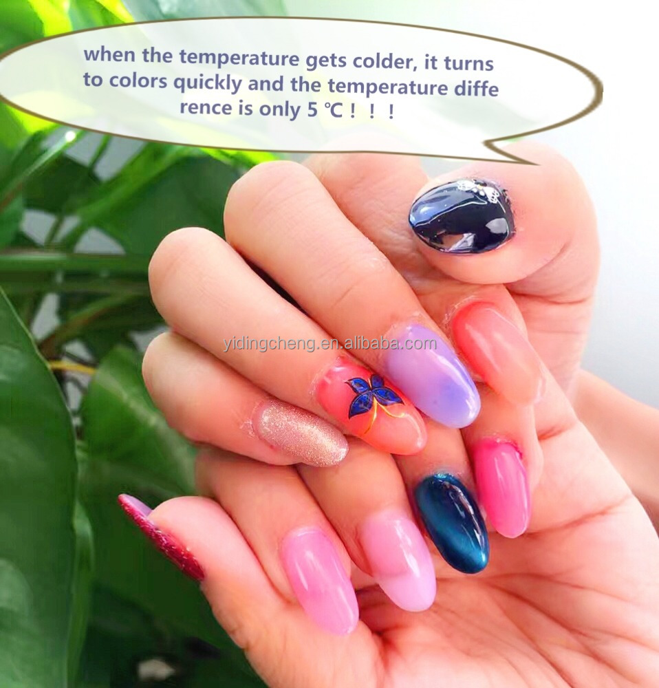 New Arrival!!! Nail color changing no wipe top coat with 12 Nice Winter colors