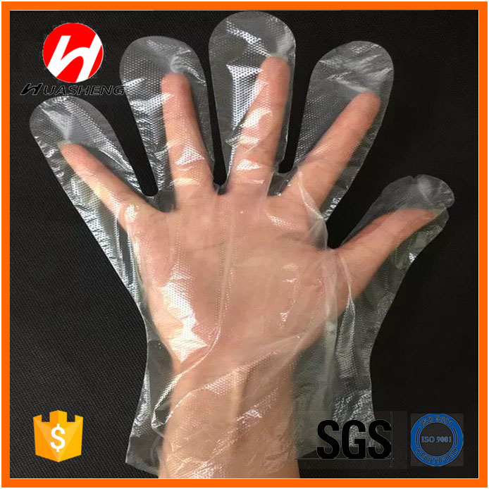 PE plastic gloveDisposable PE GloveHDPE/LDPE Disposable PE Glove