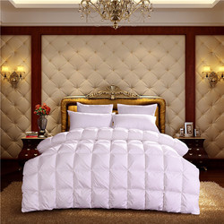 Wholesale 5 Star Hotel Used Super Soft Quilted Style Goose Down feather Filling Luxury Duvet