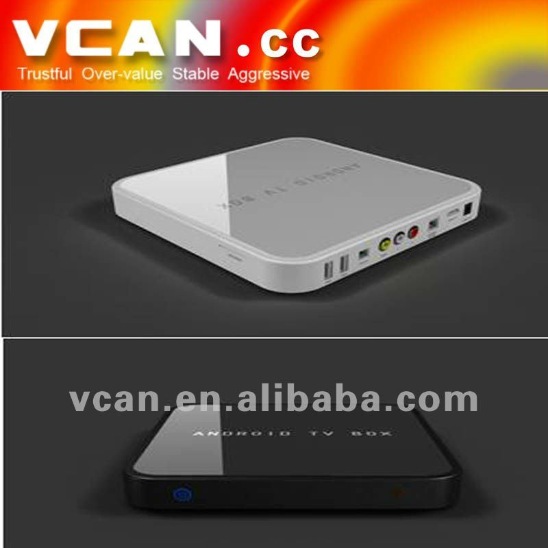 Singapore Google Android 2.3/4.0 TV set top box with Wifi,3G USB Dongle ,1080P: VCAN0412