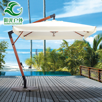 High Quantily Indian Beach Parasol with Marble Base