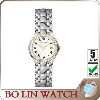 China factory gold plated wrist watch own brand watches for Ladies