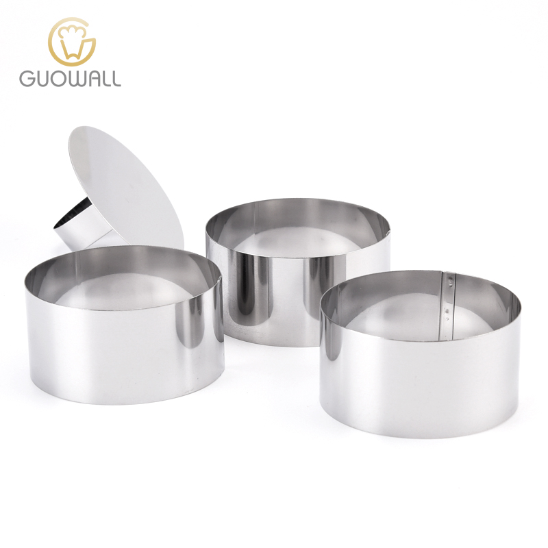 3PCS Stainless Steel Round Shaped Mousse Cake Mould Ring Set/Dessert Ring Set/3 Rings With 1 Lid