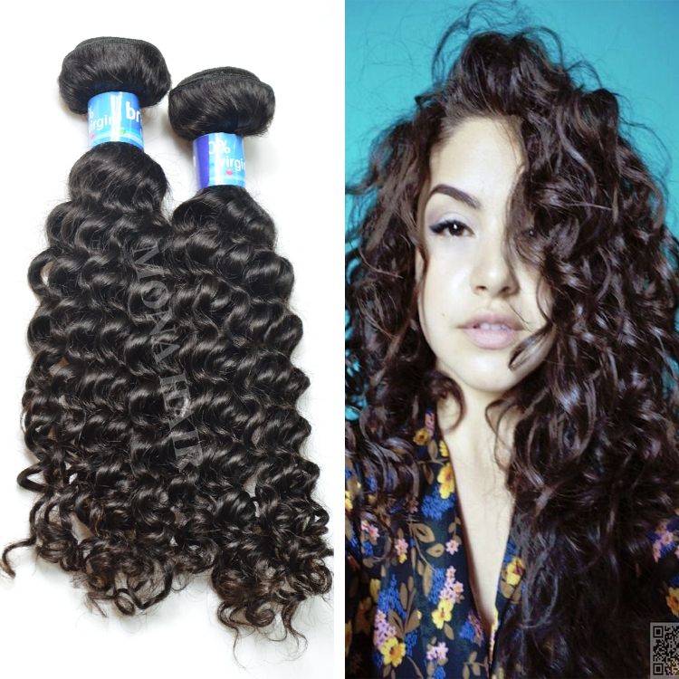 OEM accepted Paypal factory sale real human hair full and thick curl holding after cowashed 7a brazilian deep wave hair