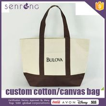 Cotton Canvas Tote Lunch Bag 100% Cotton Jean Hand Bag For Lady