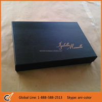 Rigid Cardboard Garment Packaging Box with Foil Hot Stamp Logo