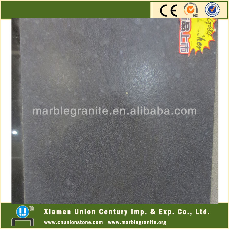 G684 Absolute Black Leather Granite Slabs Price