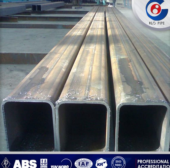 ERW low carbon black iron hollow section annealed steel pipe price for table