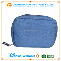 Fashion Jeans cosmetic bag for unisex