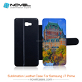 DIY Sublimation PU leather Phone Cover for Samsung Galaxy J7 Prime, Blank phone wallet