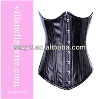 Faux Leather cheap steel boned corsets