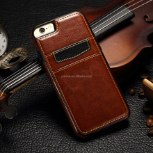 6 6s Mobile Phone Hard Case With Card Slot Luxury Genuine Universal leather cases for phones case