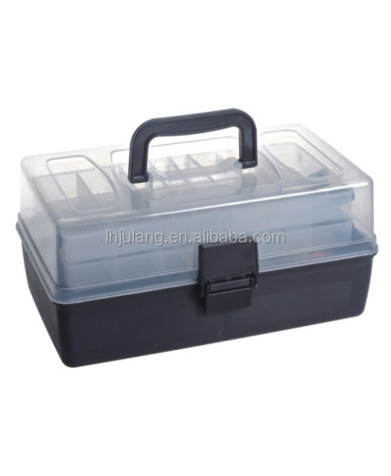 Useful plastic tool boxes screws and nails/ clear plastic storage box nail divider with handle