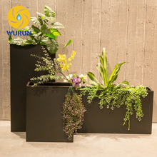Custom Powder-coated iron outdoor planters different types flower pots