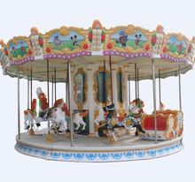 Express Alibaba Attraction Luxury Colorful Park and Rides Kitchen Carousel Riding Horse for Sale