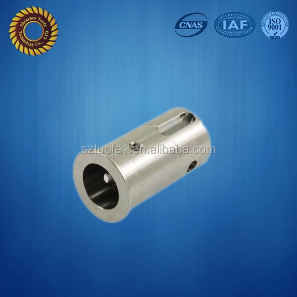 lathe processing internally threaded aluminum tube