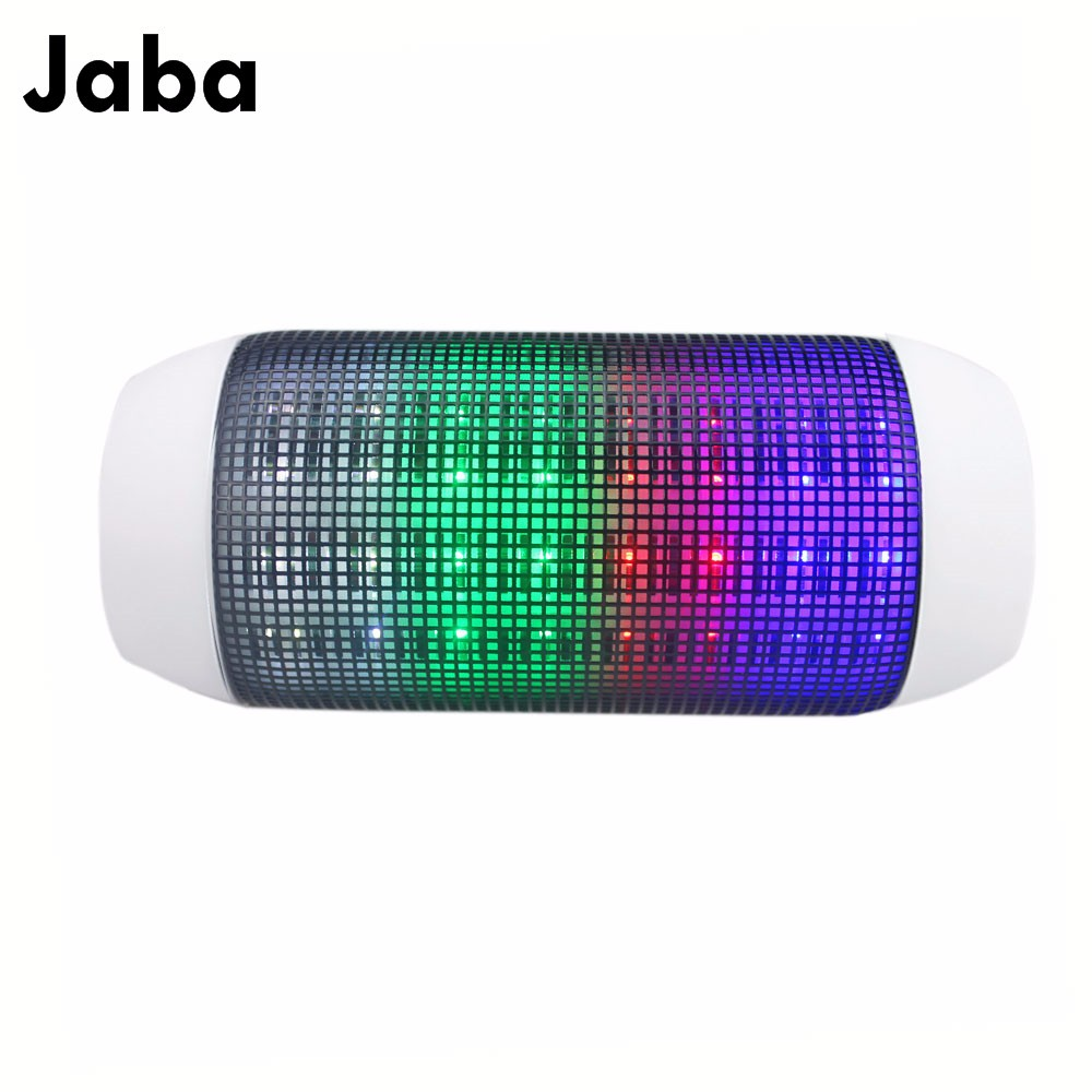 Mini Powerful Portable Wireless Bluetooth Pill Speaker LED lights Pulse TF FM Radio Built in Mic MP3 Virtual Surround