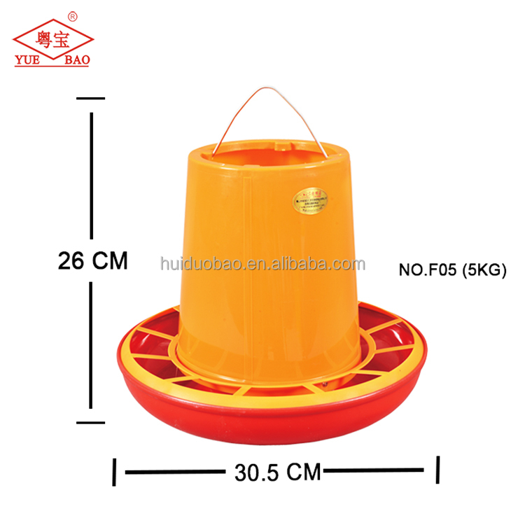 Manufacturers offer cheap prices manual chicken feeder 5kg pan plastic feed trough duck feeders for sale