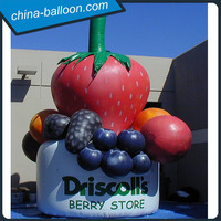 Inflatable Grape, inflatable Strawberry Fruits Model cheap price