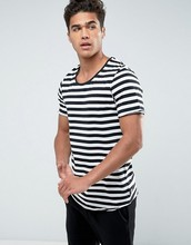 Slim Fit Round Neck Stripes Short Sleeve T-Shirt for Men NEW 100%cotton T shirts Design