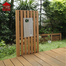 Foshan JHC wood post box/outdoor free standing timber mailbox/letterbox stainless steel