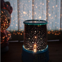 Flashing Colorful Sky LED Night Lights Lovely Starry Star Projector Lamp Kids Baby Sleep Light for Novelty Christams Gifts