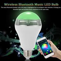 2016 Free App Bluetooth Control RGBW Color Magic Music LED Smart Light Speaker Bulb