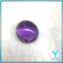 lab created oval amethyst crystal stone