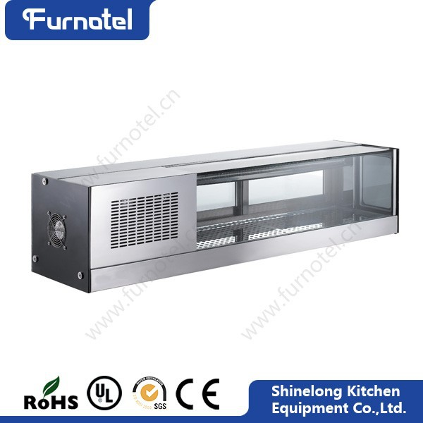 Guangzhou Commercial Stainless Steel With Led Light Refrigerated Sushi Showcase