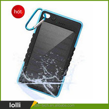 5000mAh/6000mAh Portable Solar Power Charger Mobile Power Bank,Waterproof/Shockproof/Dustproof/ Dual USB /with Camping LED Light